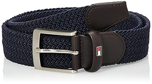 Tommy Hilfiger Webbed Belt Cinturón, Azul (Sky Captain), 105 para Hombre