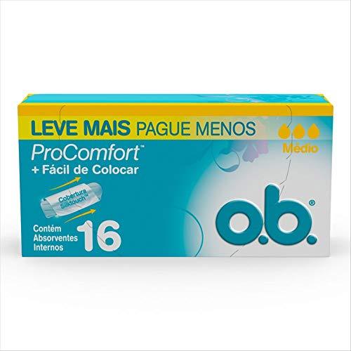 Absorvente Interno Médio Pro Comfort, O.B., 16 Unidades