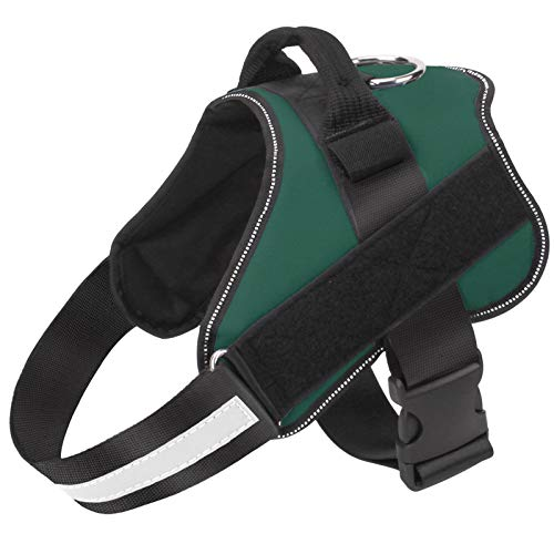 Bolux Dog Harness, No-Pull Reflective Dog Vest, Breathable Adjustable Pet Harness with Handle for Outdoor Walking - No More Pulling, Tugging or Choking ( Dark Green, M )