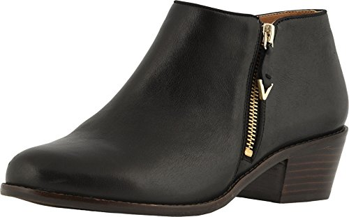 Vionic Women's Joy Jolene Ankle Boot - Ladies Booties with Concealed Orthotic Arch Support Black 5 M US