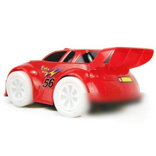 HuntGold Nouveau jouet Cool Electric universel de voiture automatique volant clignotant Musique Voiture de course (couleur aléatoire)
