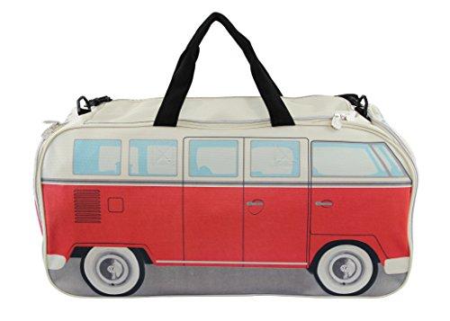 BRISA VW Collection - Volkswagen Sport-Tasche, Reise-Tasche im trendy Retro VW Bulli Bus T1 Design