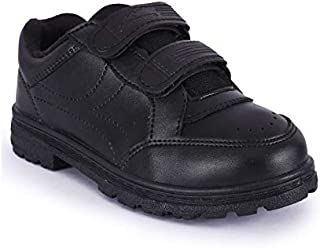 Campus Cs-64 Unisex Black School Shoes