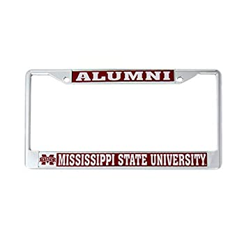 Mississippi State University MSU Bulldogs Metal License Plate Frame for Front or Back of Car Officially Licensed  Alumni  C
