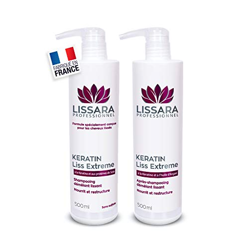 Duo Shampoing et Après-Shampoing Sans Sulfate - Sans Sel - Sans Paraben - à la kératine...