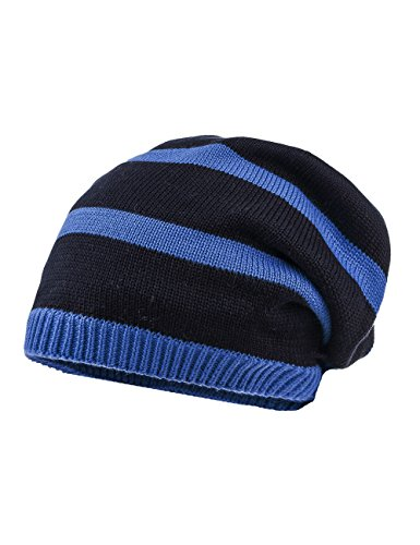 maximo Jungen Beanie gestreift Mütze, Blau (Dunkelmarine/dunkelblau 1178), 51/53