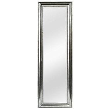 Better Over-the-Door Mirror Silver Double Bead 53.5-Inch x 17.5-Inch