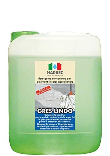 Marbec - Gres Lindo 5LT | Detergente igienizzante concentrato specifico per la pulizia ordinaria dei pavimenti in gres porcellanato