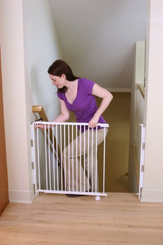 Regalo 2-in-1 Stairway and Hallway Wall Mounted Baby Gate, Bonus Kit, Includes Banister and Wall Mounting Kit