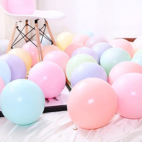 AMAZING DEAL - 100 PCS MULTICOLOUR PASTEL LATEX PARTY BALLOON - PREMIUM QUALITY - LARGE - WEDDING BIRTHDAY BABY SHOWER ANNIVERSARY FESTIVAL EVENT DECORATION