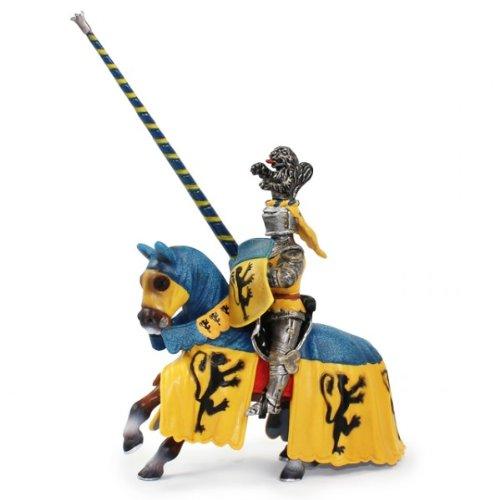 Schleich 70020 - Turnierritter Löwe Ritter Blau Gelb mit Lanze auf Pferd Löwenritter NEU OVP