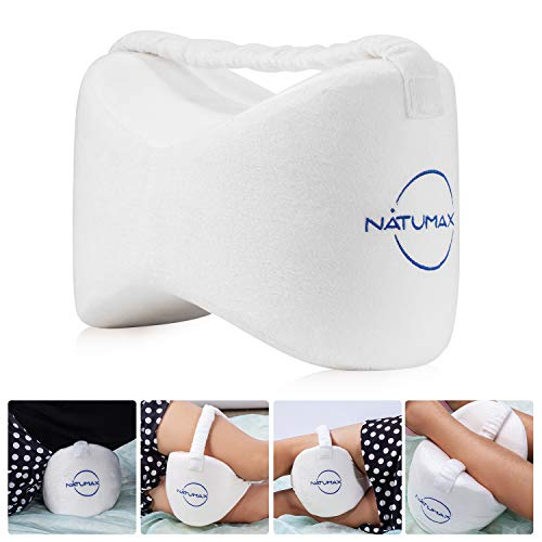 NATUMAX Knee Pillow for Side Sleepers - Sciatica Pain Relief - Back Pain, Leg Pain, Pregnancy, Hip...