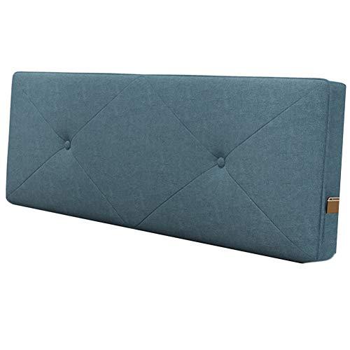 WENZHE Tête De Lit Coussin Wedge Pillow Housses De Coussins Oreiller Lavable Tissu Étui Souple Accueil Chambre Multifonction Dossier, 6 Couleurs (Color : B, Size : 150x60cm)