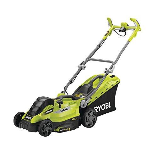 Ryobi 5133002345 Tondeuse à gazon électrique, 1500 W, Vert, largeur de coupe 36 cm