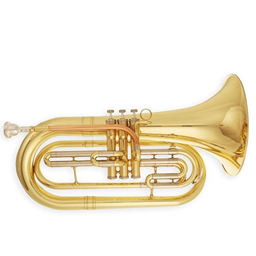 Tuyama® TMB-177 Marching Bariton / Basstrompete in B - Messing, lackiert - enge Bohrung - Koffer und Mundstück inklusiv