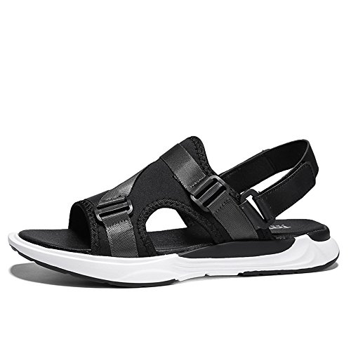 Sandalias de hombre con puntera abierta, transpirables, antideslizantes, ajustables, para verano, playa, sandalias antideslizantes (color: azul, tamaño: 42)