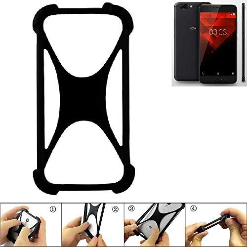 K-S-Trade Handyhülle für NOA H10le Schutz Hülle Silikon Bumper Cover Case Silikoncase TPU Softcase Schutzhülle Smartphone Stoßschutz, schwarz (1x)