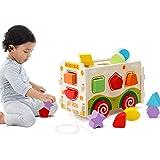 Mamimami Home 木のおもちゃ 知育玩具 引っ張る車 パズル 組み立て 積み木 形合わせ 取り外し 輸送 乗り物 引っ張るおもちゃ 車 男の子 女の子 幼児 ベビー 赤ちゃん 出産祝い 祝日 誕生日 ギフト プレゼント