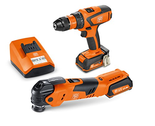 FEIN ASCM12/AFMT 12QSL Cordless Combo  Drill/Driver and StarlockPlus Oscillating Multi-Tool with snap-fit accessory change
