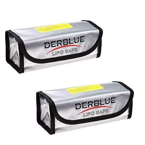 DerBlue 2pcs Fireproof Explosionproof Lipo Battery Safe Bag