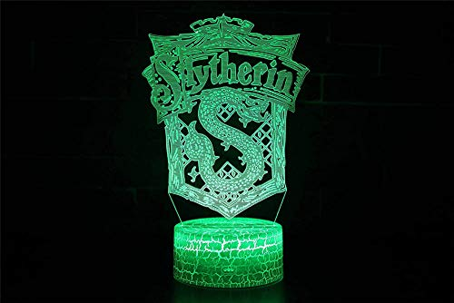 Lámpara de ilusión 3D con ilusión óptica 3D, serie Harry Potter, 16 cambio de color, lámpara decorativa – Regalo perfecto para cumpleaños, festival, Navidad para bebés, adolescentes y amigos