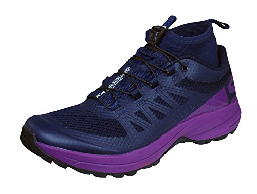 Salomon XA Enduro W, Zapatillas de Running Mujer, Azul (Evening Blue/Grape Juice/Black), 37 1/3