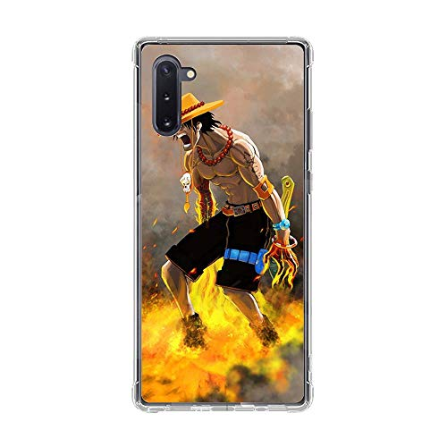 Be-better Case for Samsung Galaxy Note 10, One-Piece Anime-Luffy 8 Ultra Clear Coque Thin Soft TPU Rubber Anti-Slip Phone Cover