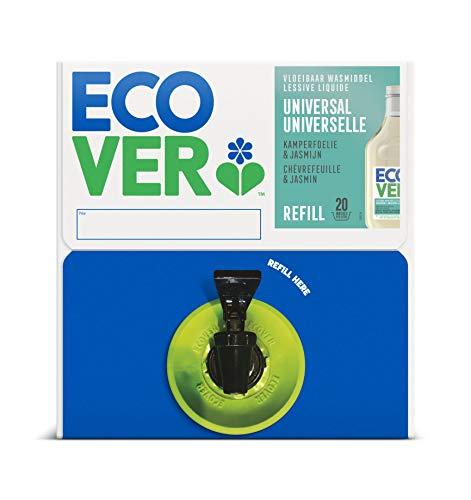 Ecover Waschmittel Universal Hibiskus & Jasmin (15 L/300 Waschladungen), Flüssigwaschmittel mit pflanzenbasierten Inhaltsstoffen, Vollwaschmittel für Erhalt und Schutz der Kleidung