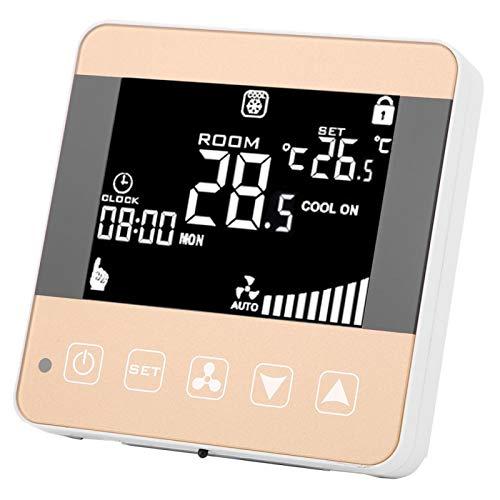 Lafey Termostato, termostato Digital, Pantalla LCD, Controlador Inteligente de Aire Acondicionado para el hogar, Sala de Estar, Dormitorio, Oficina(WiFi)