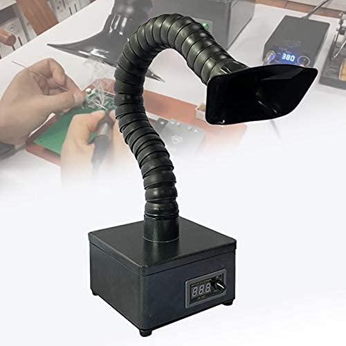 Qjkmgd Extractor de Humo de Soldadura Flexible, purificador de carbón Activado bajo Ruido, Tubo de Escape Flexible, succión Ajustable, filtrado cuádruple para Eliminar Humo de Soldadura