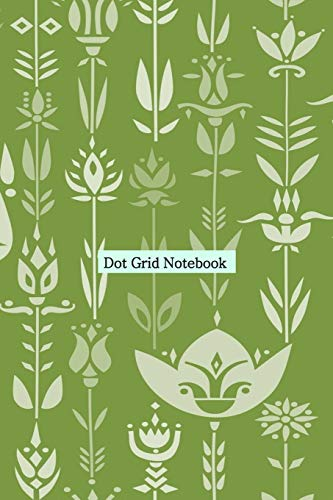 Dot grid Notebook: Stylish Nordik Pattern Cover Dotted Paper Journal for Design...