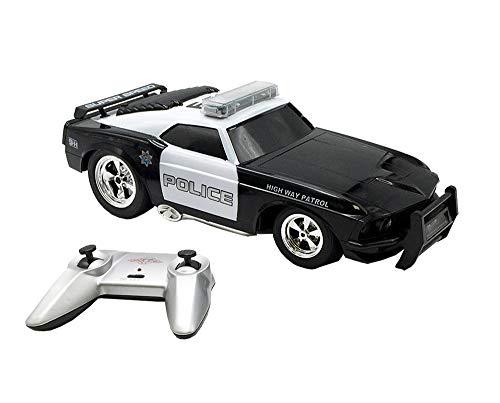 Tachan Coche de Policia Americano con Radio Control, Color Negro (CPA Toy Group 73370599)