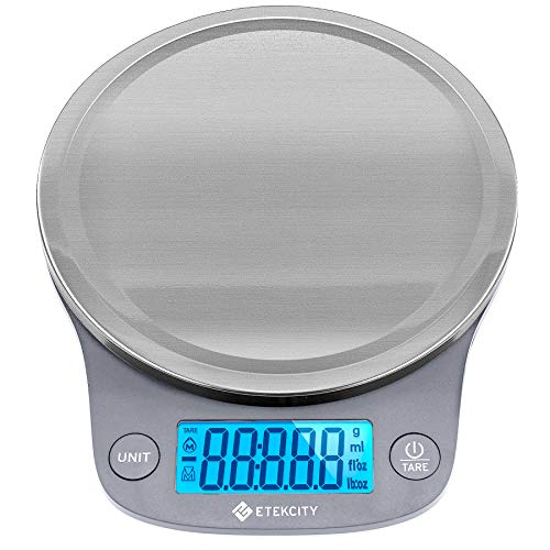Etekcity 0.1g Food Kitchen Scale, Digital Weight Grams and Oz for Cooking, Baking, Meal Prep, and Diet, 11 Pounds, 304 Stainless Steel