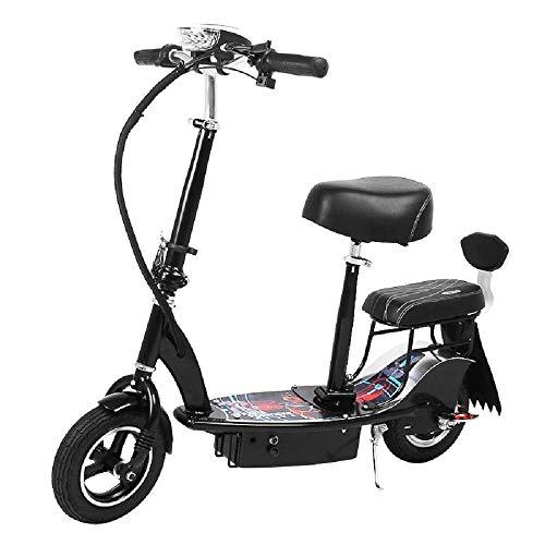 WXDP Patineta Cruiser Pro,Scooter eléctrico Doble para Adultos, Mini Patinete Plegable pequeño para Padres e Hijos, Carga de 120 kg, kilometraje máximo, 40 kg, Velocidad máxima