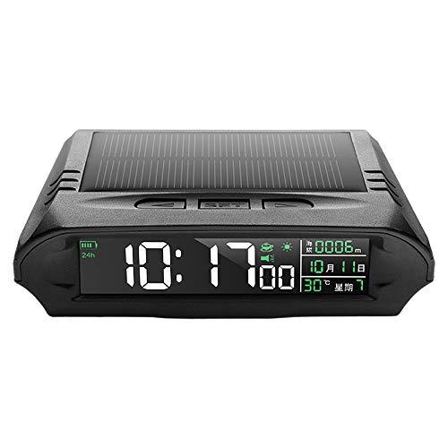 Tamkyo A10 HUD Reloj del Coche Medidor Digital Solar Altitud Temperatura Alarma de ConduccióN por Fatiga Posicionamiento Pantalla Multifuncional