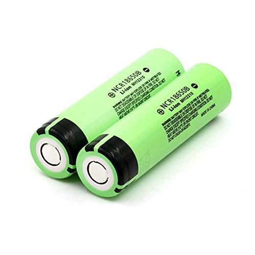 2 uds Ncr18650b 18650 batería Recargable de Iones de Litio 3400Mah 3,7 V para batería acumuladora de batería de Linterna Panasonic