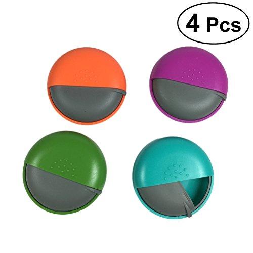 HEALIFTY Pill Containers pour sac à fermeture à glissière petit cas quotidien 4pcs (couleur aléatoire)