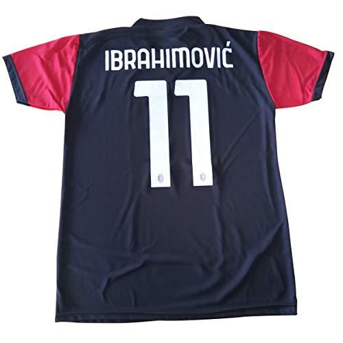 3rsport Camiseta Milan Zlatan Ibrahimovic 11 negra réplica autorizada para niño (tallas 2 4 6 8 10 12) adulto (S M L XL (4/5 años)
