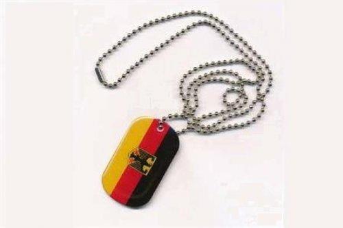Erkennungsmarke DOG TAG Deutschland mit Adler Fahne Flagge Kette