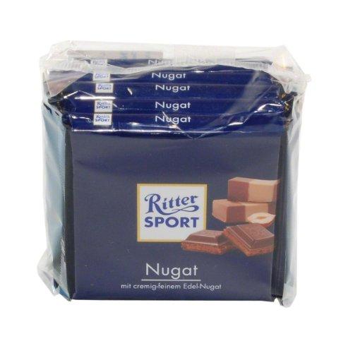 Alfred Ritter GmbH & Co. KG: Ritter Sport - Nugat - 1 Packung mit 5 Tafeln à ...