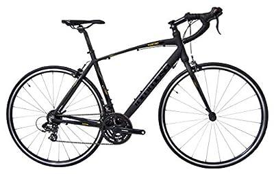 Tommaso Fascino - Sport Performance Aluminum Road Bike, Shimano Tourney, 21 Speeds - Black/Yellow - Small