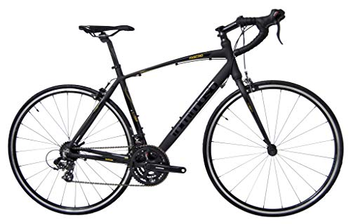 Tommaso Fascino - Sport Performance Aluminum Road Bike, Shimano Tourney, 21 Speeds - Black/Yellow - Extra Small
