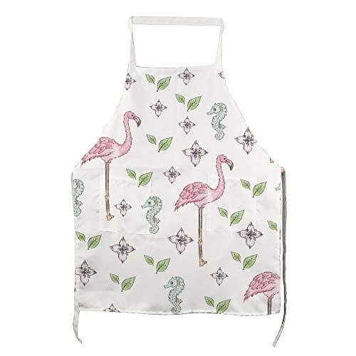 Ninguna marca Flamingos románticos flores tropicales hojas ajustable adulto babero lavable para mujeres hombres chef cocina Barbacoa restaurante cafetería cocina horno, jardinería lnkhzw412qrr, Seaho7, 70*80cm