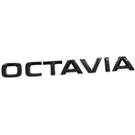 Skoda 5e3853687p041 Schriftzug Octavia Emblem Aufkleber Buchstaben Blackline Logo Schwarz Auto