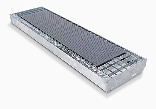 SafeStep Gitterrostauflage (genoppt) 800x200 mm