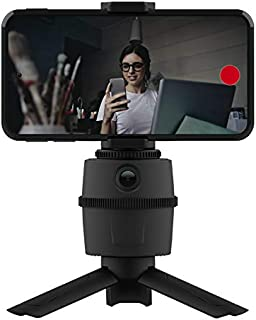 Smart Selfie Automatic Tracking Pan-Tilt, 360° Rotation Auto Face Tracking Vlog Shooting Stabilizer Smartphone Holder, Tri...