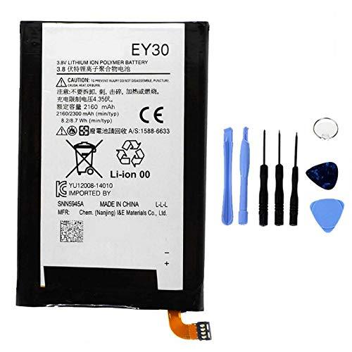 Ellenne Batería Compatible con Motorola Moto G2 X2 EY30 XT1092 Alta Capacidad 2300 mAh con Kit de desmontaje Incluido