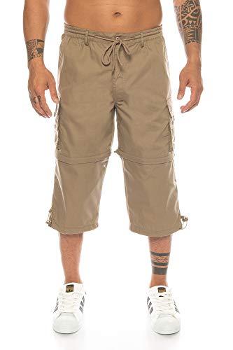 Kendindza heren bermuda afneembare pijpen zip off van 3/4 in korte broek
