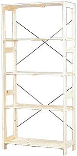 アイリスオーヤマ ラック 木製 棚板可変 幅83.5×奥行35×高さ179cm ウッディラック クリア WOR-8318