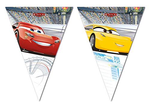 Qualatex 79711 Disney Cars 3 - Bandera triangular para fiestas , color/modelo surtido